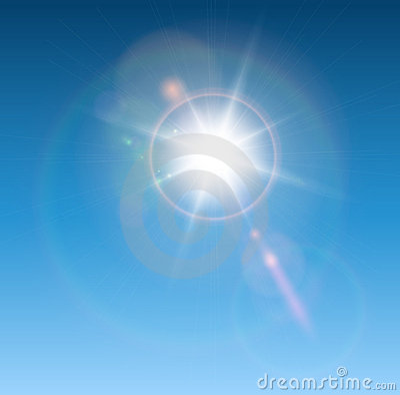 ήλιος φακών φλογών