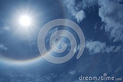 ήλιος φωτοστεφάνου