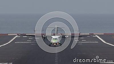 Αεροπλάνο για προσγείωση απόθεμα βίντεο