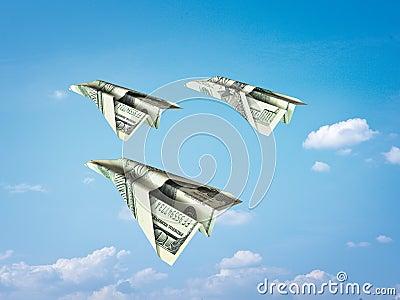 αεροπλάνο εγγράφου χρημά