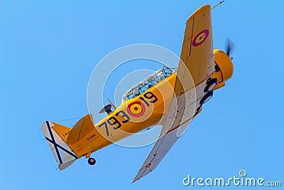Αεροσκάφη τ-6 τεξανά Εκδοτική Φωτογραφία