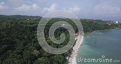 Αεροφωτογραφία της παραλίας Thomas απόθεμα βίντεο