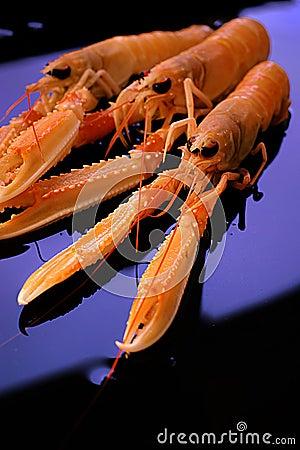 ακατέργαστες γαρίδες