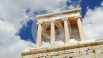 Ακρόπολη, Αθήνα, Ελλάδα, Timelapse, ζουμ έξω, 4k φιλμ μικρού μήκους