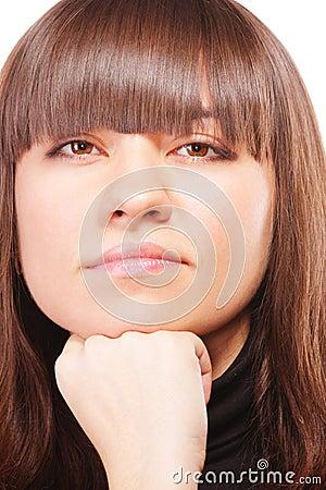 αλαζονικό brunette