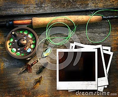 αλιεύοντας ράβδος εικόν&