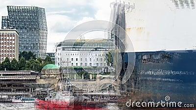Αμβούργο/Γερμανία - 14 Ιουλίου 2017: Οι αποβάθρες του ST Pauli είναι ένα από τα σημαντικότερα τουριστικά αξιοθέατα στην πόλη του  απόθεμα βίντεο