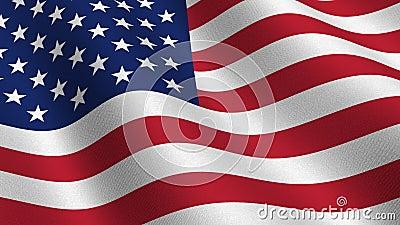 ΑΜΕΡΙΚΑΝΙΚΗ σημαία - άνευ ραφής βρόχος