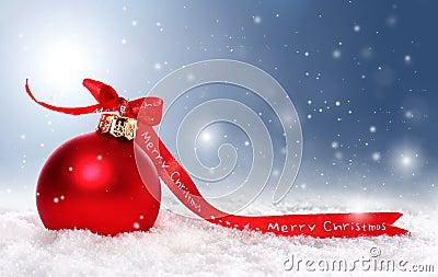 Ανασκόπηση Χριστουγέννων με το μπιχλιμπίδι, χιόνι και