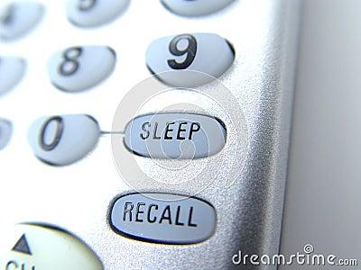 απομακρυσμένος ύπνος κουμπιών