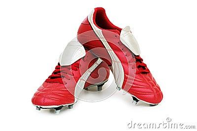 απομονωμένα ποδόσφαιρο παπούτσια