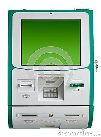 απομονωμένη το ATM μηχανή