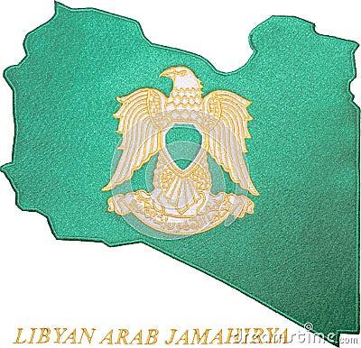 αραβικό jamahirya Λίβυος εμβλημά&