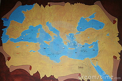 αρχαίος χάρτης της Ανατο&lambd