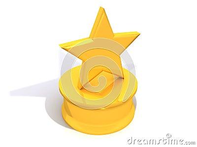 αστέρι βραβείων κίτρινο