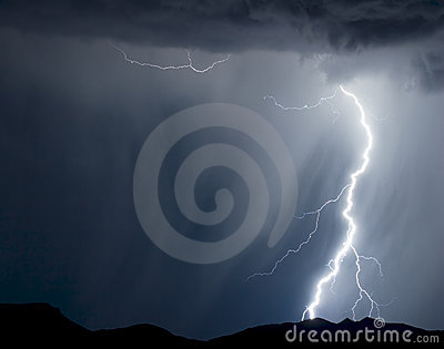 αστραπή βροχερή