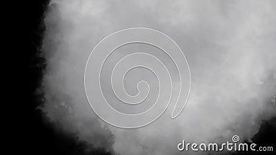 Ατμόσφαιρας παχύς καπνού βρόχος HD υποβάθρου ριπών τηλεοπτικός μαύρος φιλμ μικρού μήκους