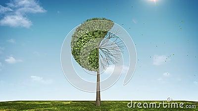 Αυξηθείτε το διάγραμμα πιτών μορφής δέντρων υποδειγμένος 60 percents πράσινο εικονίδιο απεικόνιση αποθεμάτων