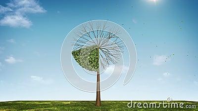 Αυξηθείτε το διάγραμμα πιτών μορφής δέντρων υποδειγμένος 20 percents πράσινο εικονίδιο διανυσματική απεικόνιση