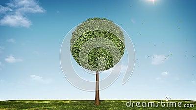 Αυξηθείτε το διάγραμμα πιτών μορφής δέντρων υποδειγμένος 100 percents πράσινο εικονίδιο ελεύθερη απεικόνιση δικαιώματος