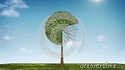 Αυξηθείτε το διάγραμμα πιτών μορφής δέντρων υποδειγμένος 70 percents πράσινο εικονίδιο διανυσματική απεικόνιση