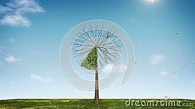 Αυξηθείτε το διάγραμμα πιτών μορφής δέντρων υποδειγμένος 10 percents πράσινο εικονίδιο διανυσματική απεικόνιση