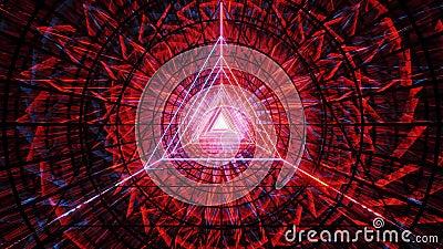 Αφηρημένη σχεδίαση τριγώνου περιγράμματος επιφάνειας με σκούρο αφηρημένο φόντο κίνησης 3d απεικόνιση live wallpaper visual vj ελεύθερη απεικόνιση δικαιώματος