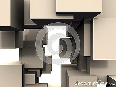 αφηρημένος κύβος συνδέσε