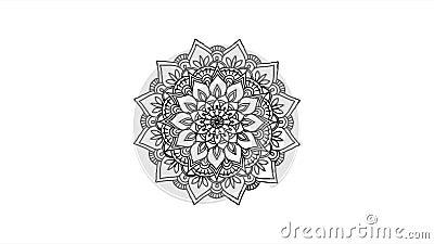 Αφηρημένο διακοσμητικό ψηφιακό συρμένο χέρι μήκος σε πόδηα mandala Floral εκλεκτής ποιότητας δερματοστιξιών διακοσμητικό σχέδιο Ι απόθεμα βίντεο