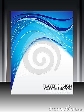 Αφηρημένο μπλε σχέδιο Flayer