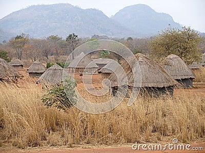 αφρικανικό χωριό της Μοζαμ