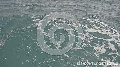 Αφύπνιση και κύματα στη θάλασσα S-Log3 απόθεμα βίντεο