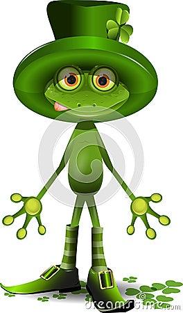 Βάτραχος και η ημέρα του ST Patricks