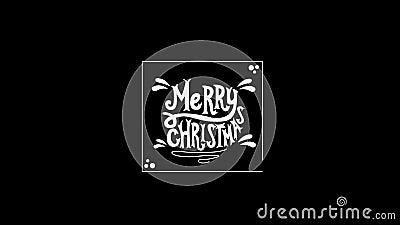 Βίντεο Χαρούμενα Χριστούγεννας διανυσματική απεικόνιση
