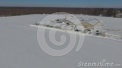 Βιομηχανικές έννοιες στο χιονισμένο τομέα απόθεμα βίντεο