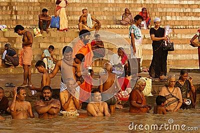 Γάγκης Varanasi Εκδοτική Στοκ Εικόνα