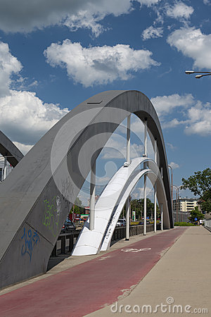 Γέφυρες της Βαρσοβίας σε Wroclaw Εκδοτική Φωτογραφία