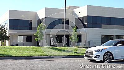 Γενικό κτίριο γραφείων εξωτερικό σε νότια Καλιφόρνια απόθεμα βίντεο