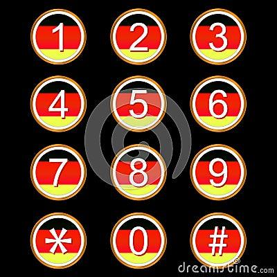 Γερμανικά εικονίδια αριθμών