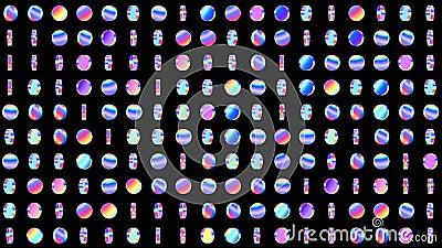 Γεωμετρικός περιτυλίχτηκε σχέδιο με τους περιστρεφόμενους ολογραφικούς κύκλους για το αφηρημένο υπόβαθρο disco r ελεύθερη απεικόνιση δικαιώματος