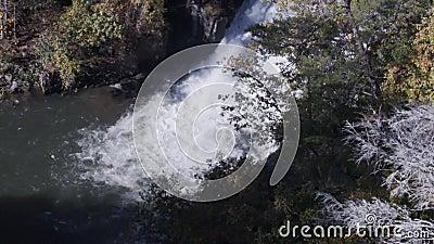 Γεωργία Tallulah Gorge 6K Ένα ζουμ σε μία από τις μεγάλες πτώσεις στον ποταμό Tallulah φιλμ μικρού μήκους