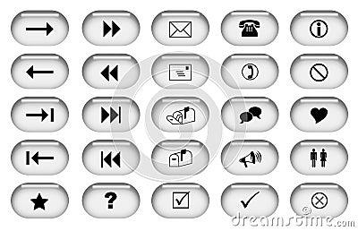 γκρίζος Ιστός κουμπιών