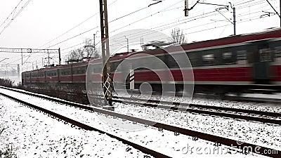 Γρήγορο τραίνο απόθεμα βίντεο