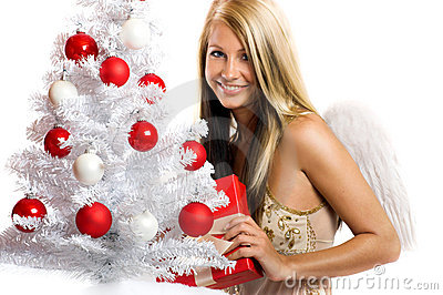 γυναίκα δώρων Χριστουγένν
