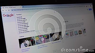 Δακτυλογράφηση Facebook τη μηχανή αναζήτησης φιλμ μικρού μήκους