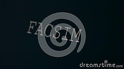 Δακτυλογραφώντας αντίγραφο λέξης απόθεμα βίντεο