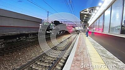 Δημοτικός σιδηροδρομικός σταθμός Podolsk απόθεμα βίντεο