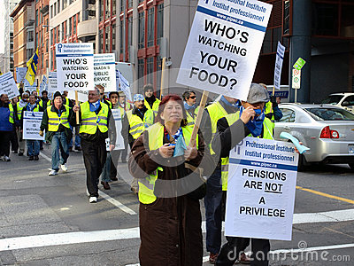 Διαμαρτυρία ένωσης στην Οττάβα Εκδοτική εικόνα