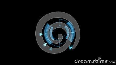 Διεπαφών στοιχείων κυκλικός κύκλος χρώματος φορτωτών μπλε με τις ελαφριές ακτίνες Άλφα κανάλι διανυσματική απεικόνιση