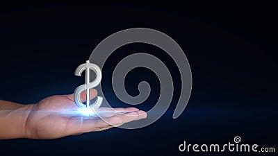 Δολάριο στα χέρια απόθεμα βίντεο